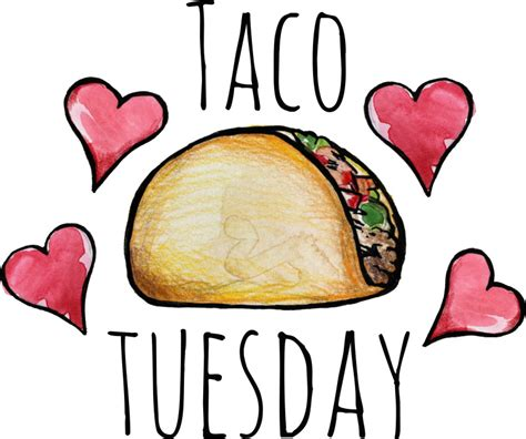 Tacos Clipart Taco Clipart Taco Tuesday Pencil And In Color Taco