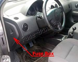 Fuse Box Diagram Chevrolet Aveo  2002