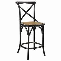 french country bar stools Kasson French Country Black Oak Wood Bar Stool | Kathy Kuo ...