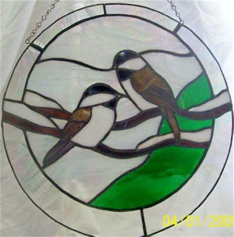 chickadee stained glass