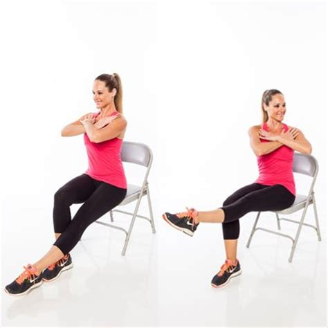 Chair Leg Lifts Abs by Seated Workout Routine Shape Magazine