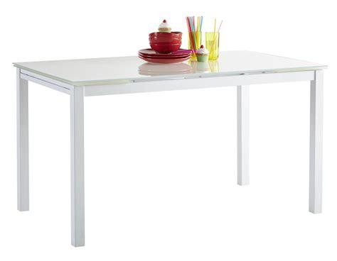 table cuisine largeur table de cuisine blanche contemporaine extensible métal et