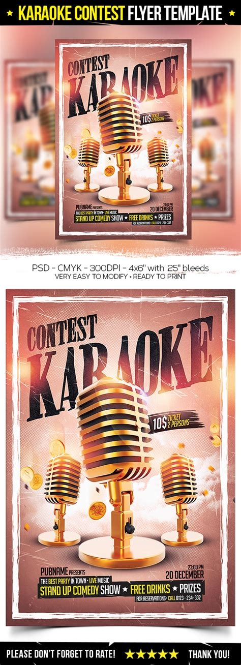 Photo Contest Flyer Template by Karaoke Contest Flyer Template On Behance
