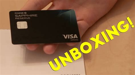 Maybe you would like to learn more about one of these? Chase Sapphire Reserve Unboxing - YouTube