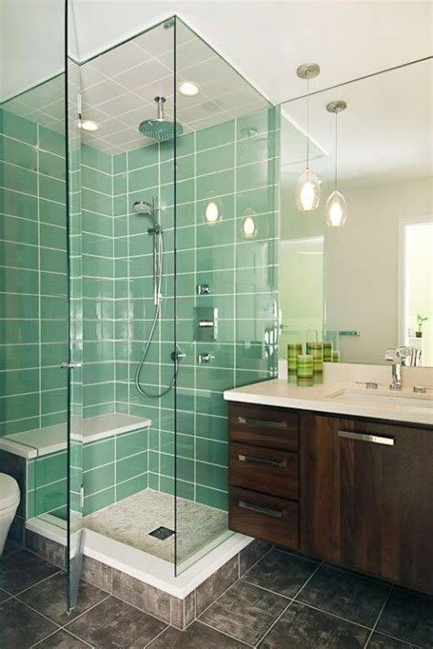 green glass bathroom tile ideas  pictures