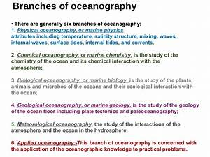 Definition Of Oceanography