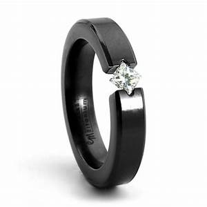 allure black zirconium diamond engagement ring princess With gaudy mens wedding rings