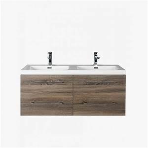 Meuble Tiroir Salle De Bain : aquasun meuble salle de bain double vasque 120 cm gris ~ Edinachiropracticcenter.com Idées de Décoration