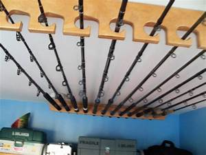 Fishing Rod Rack Ceiling Or Horizontal Mount