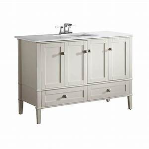Simpli Home Chelsea 48 In Vanity In Soft White With