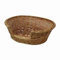 wicker pet bed JVL Full Buff Wicker Small Animal Dog Cat Pet Bed Basket 787269017573 | eBay