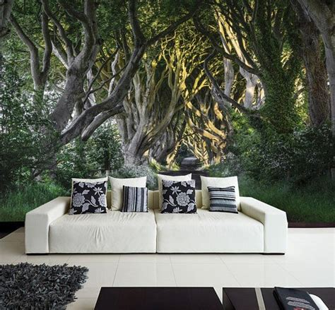 wall stickers and murals photo wall mural wall decal self adhesive vinyl wallpaper mystery forest 12 1 quot x 8 4 quot 368 х