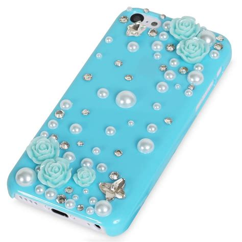 3d cases for iphone 5c iphone 5c delicate 3d pearl bling in