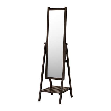 isfjorden miroir sur pied teinture noir brun ikea