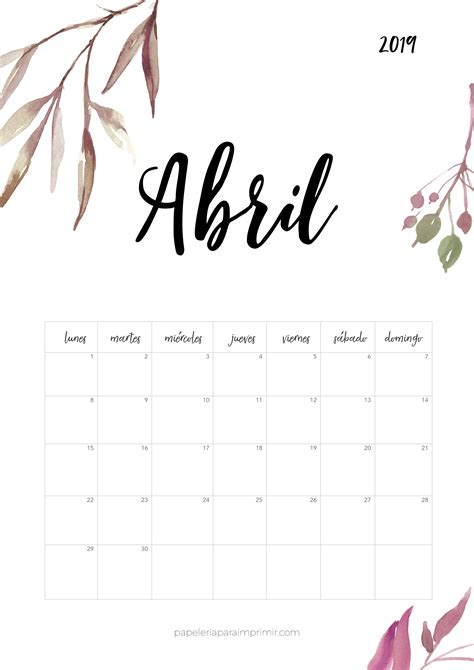 calendario imprimir abril calendario calendar imprimir