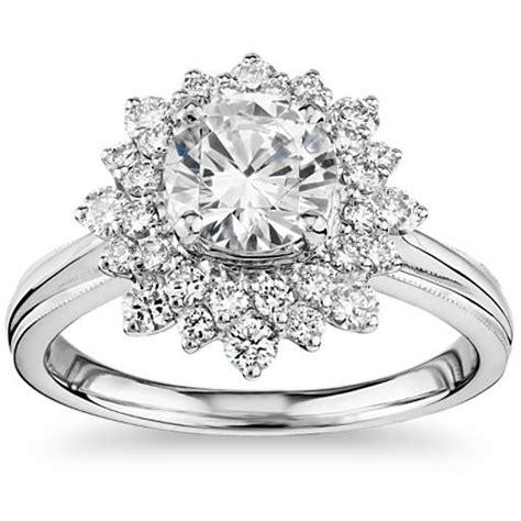 zac posen double sunburst diamond halo engagement