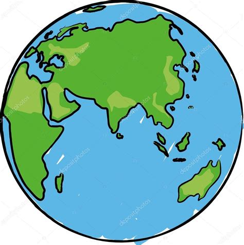 cartoon earth globe  eurasia africa  australia