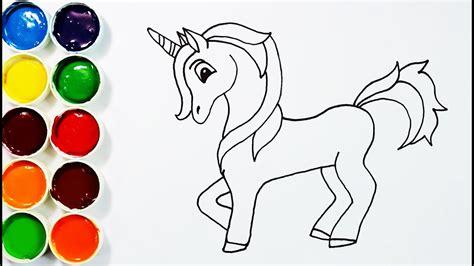 draw  paint unicorn  kids youtube