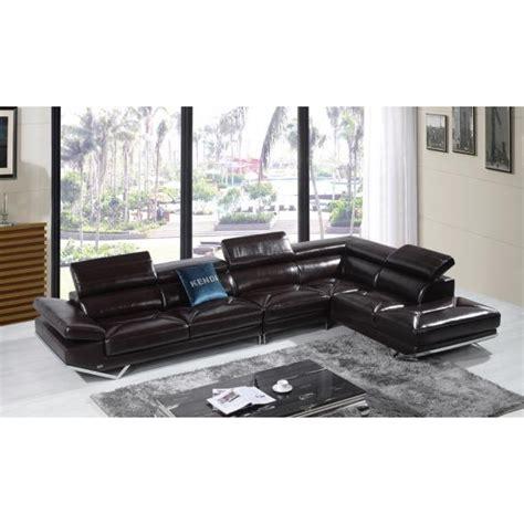 canapé d angle en cuir canapé d 39 angle en cuir véritable siena pop design fr