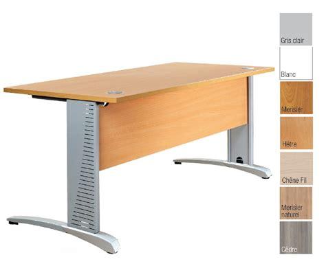 couleur bureau bureau plan droit en bois structure acier pied couleur alu