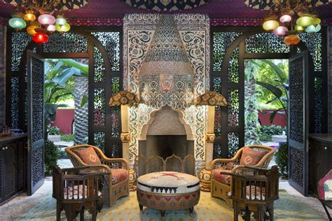 related image moroccan decor  design beach mansion