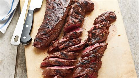 grilled marinated hanger steak