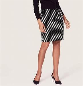 LOFT Petite Polka Dot Pencil Skirt | Where to buy u0026 how to wear