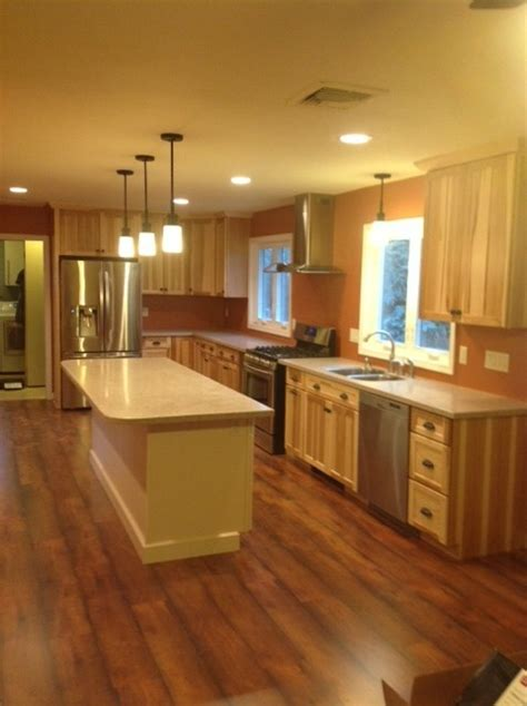 hickory kitchen cabinets lowes kraftmaid mission hickory natural kitchen traditional