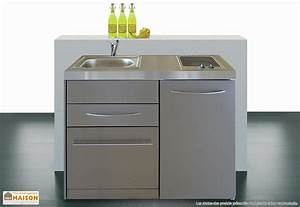 Meuble Lave Vaisselle : formidable meuble sous plaque de cuisson 2 mini cuisine inox avec lave vaisselle et ~ Teatrodelosmanantiales.com Idées de Décoration