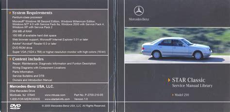 free download parts manuals 2000 mercedes benz e class interior lighting wtb w210 star service repair manual cd mercedes benz forum