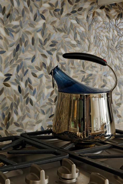 mosaic flower petal tile backsplash hgtv