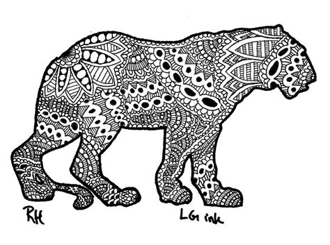 microwave wall tiger zentangle motive zentangle motives paintings