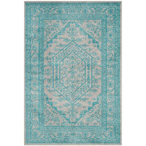 Teal And Gray Area Rug by Safavieh Adirondack Light Gray Teal 5 Ft X 8 Ft Area Rug