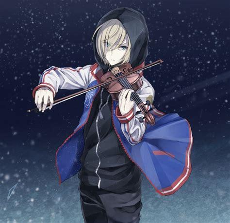 wallpaper plisetsky yuri violin hood yuri  ice snow