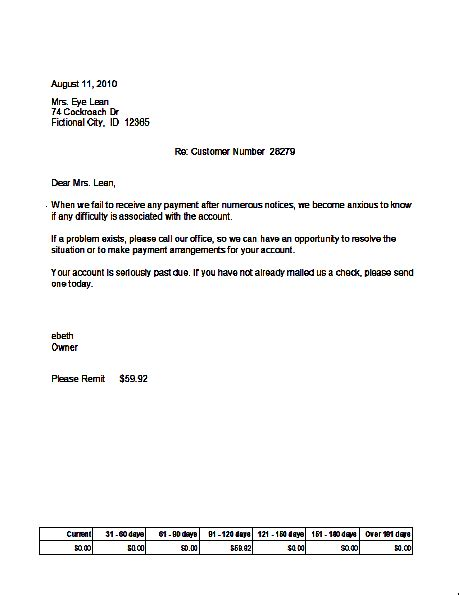 collection letter template collection letter tomyumtumweb 11219