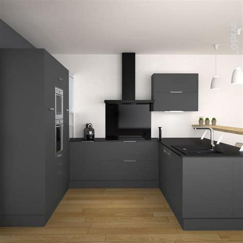 cuisine grise plan de travail noir les 25 meilleures idées de la catégorie plan de travail noir sur cuisines noires la