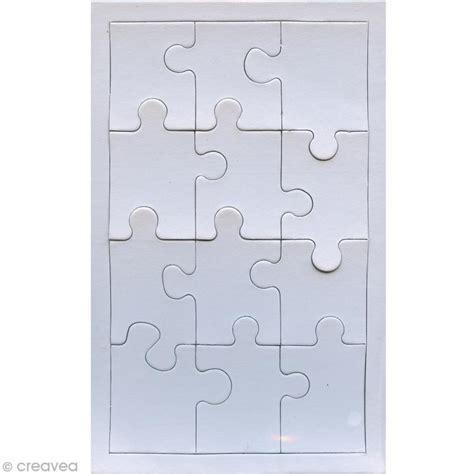 accessoires cuisine enfants puzzle en blanc à décorer 12 pièces x 10 puzzle à