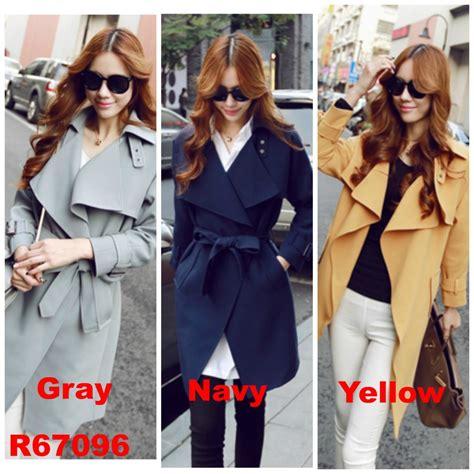 coat wanita korea navyblue trendy blazer