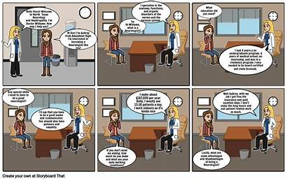 Comic Strip Neurologist Mia Storyboard