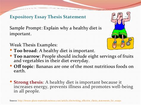 How To Narrow Expository Essay by Writing A Thesis