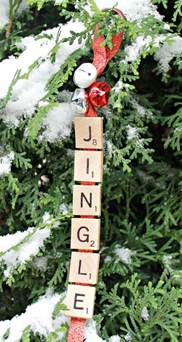 jingle bells scrabble christmas ornament day 9 of 12 days of ornaments mom 4 real