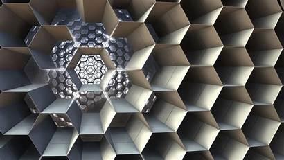 Honeycomb Structure Cell 3d Fractal Cellular Hexagonal