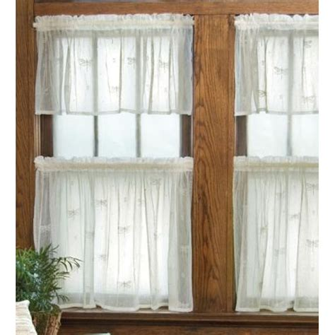 dragonfly lace valance tiers curtain panels by
