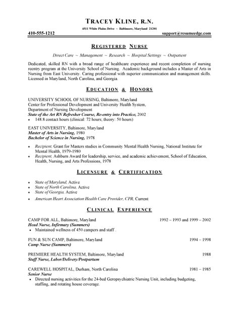 Nursing Resume Example Sample Nurse And Health Care Resumes