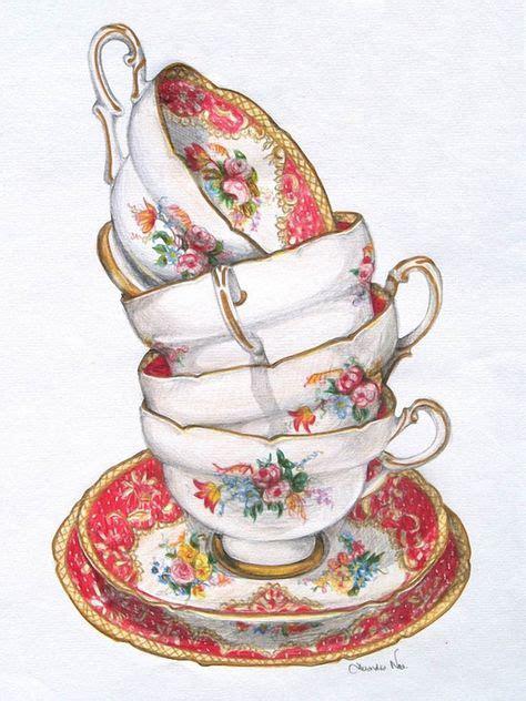 superbes illustr.de Alexandra Nea | Thé illustration, Thé vintage, L'art du thé