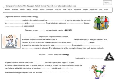 anaerobic respiration by covick teaching resources tes