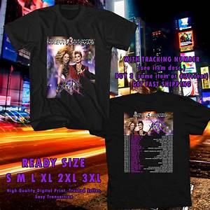 NEW GLORIA TREVI AND ALEJANDRA GUZMAN TOUR 2017 BLACK TEE ...