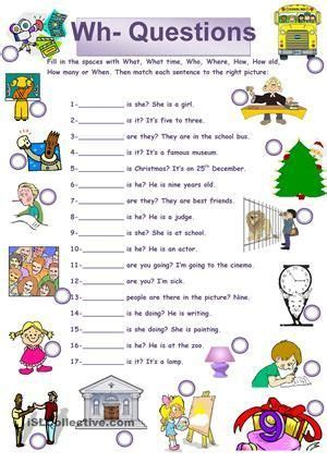 wh questions worksheets   images wh questions