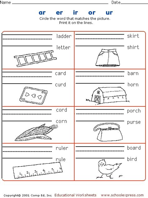 R Controlled Vowel Worksheets 3rd Grade  Guide R Controlled Vowels Worksheet Esheets56 Free