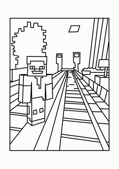 Coloring Minecraft Printable Pages Popular